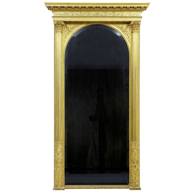 19th Century Carved Gilt Mirror of Large Proportions