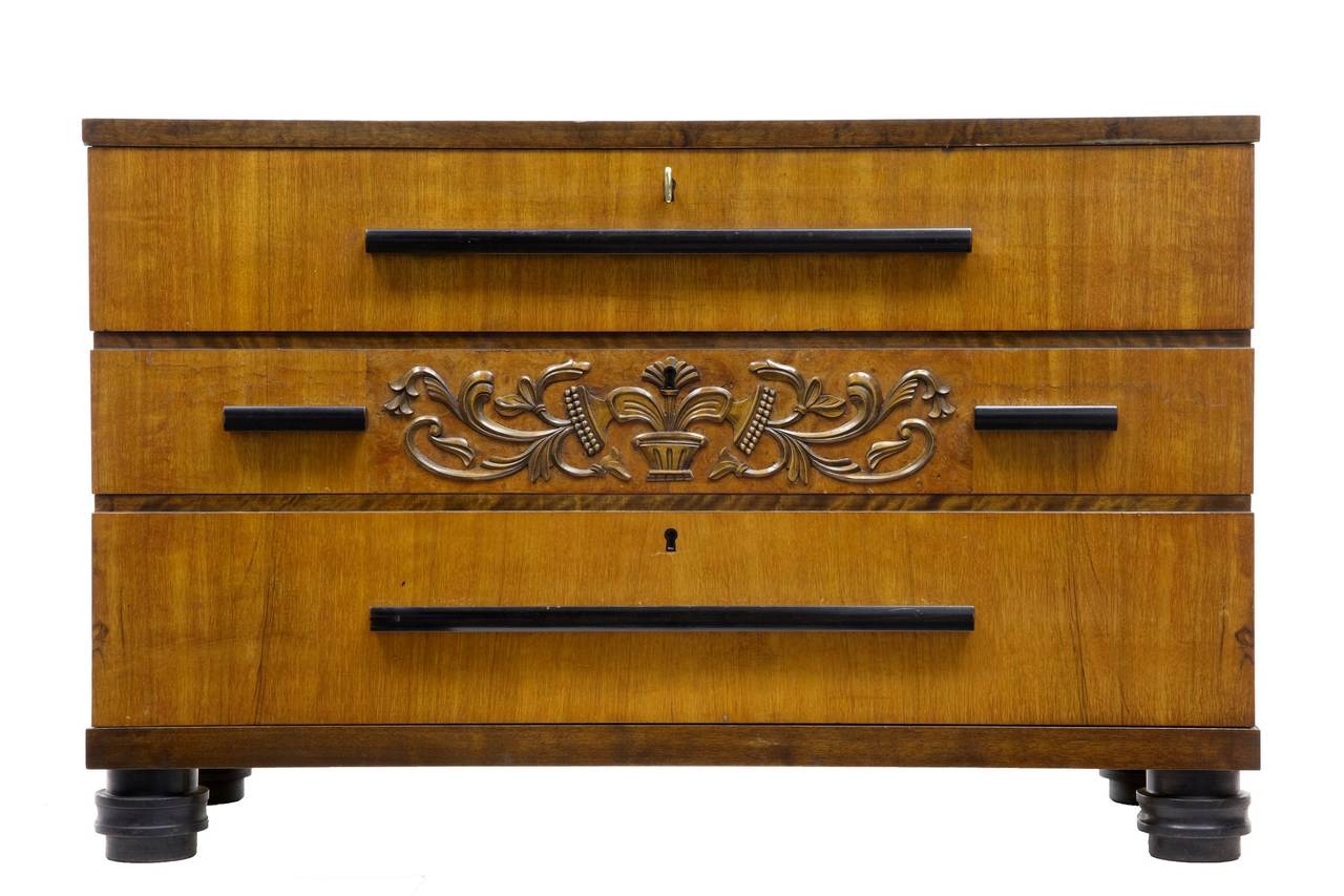 20th century deco birch chest of drawers for sale at 1stdibs