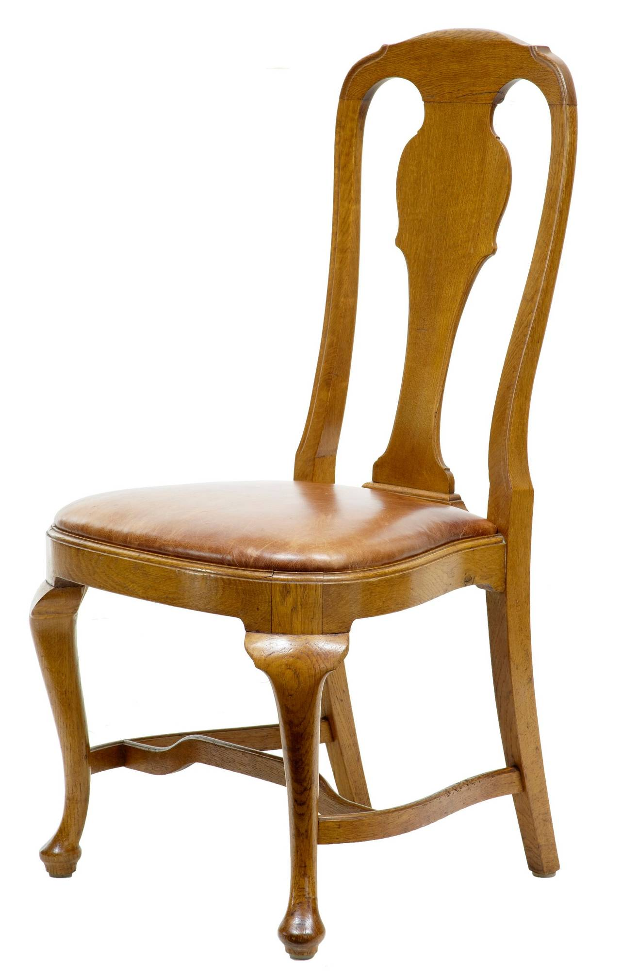 19th century set of eight queen anne influenced dining chairs for sale at 1stdibs - Queen anne dining room furniture ...