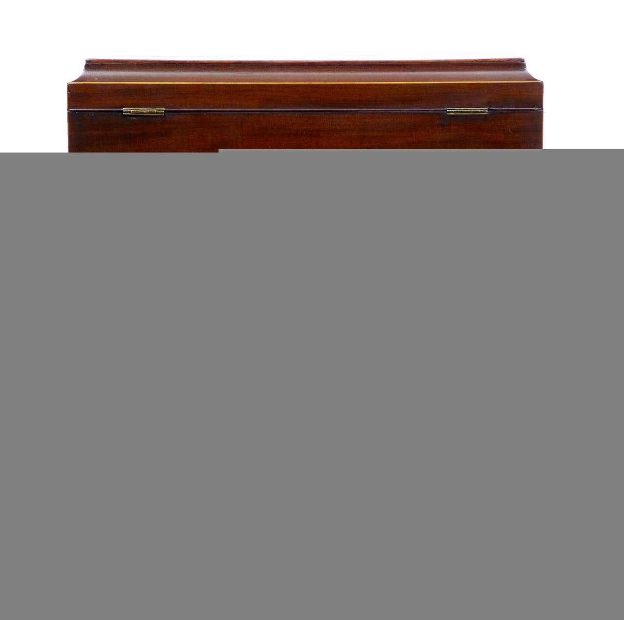 Woodwork Early 20th Century Mahogany Wine Cooler Cellarette For Sale