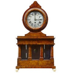 19th Century Birch Root Mantle Clock by Svensson