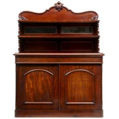 19th Century, French Mahogany Chiffonnier Sideboard