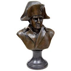 20th Century Bronze Bust of Napoleon, Stamped J.B. Deposee Paris A Canova