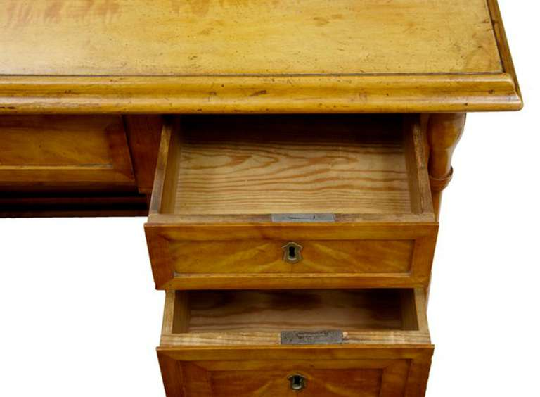 nice Gothic Vanity For Sale Part - 13: 19th Century Swedish Birch Gothic Vanity Dressing Table and Mirror For Sale  2