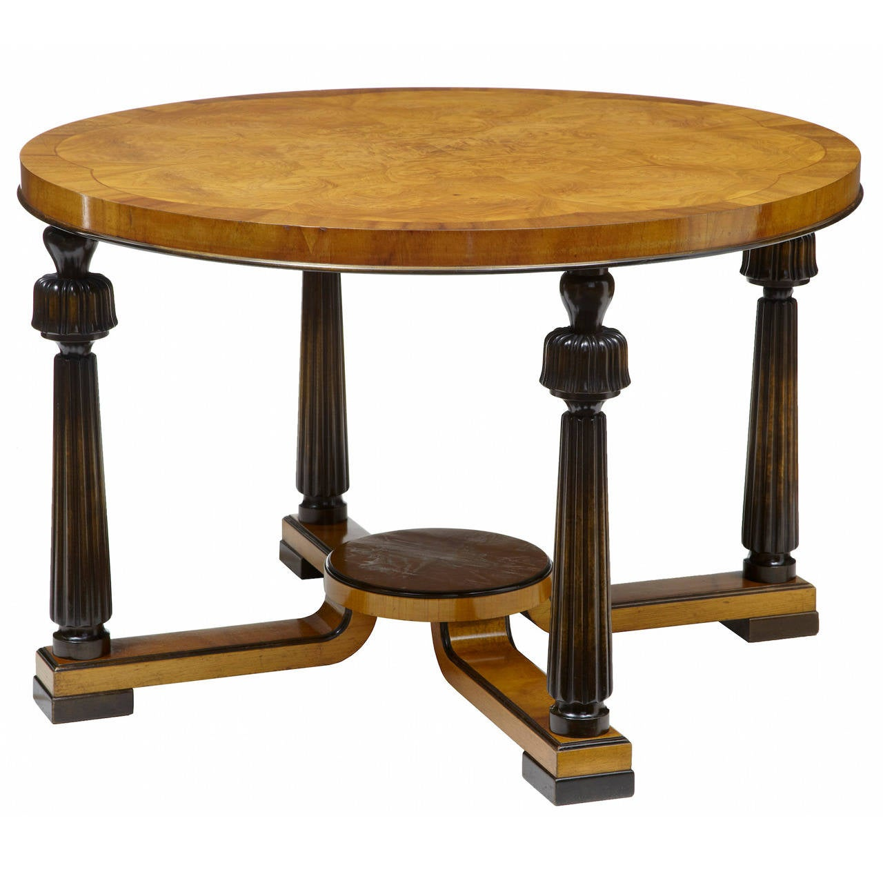 Art Deco Birch Coffee Table At 1stdibs