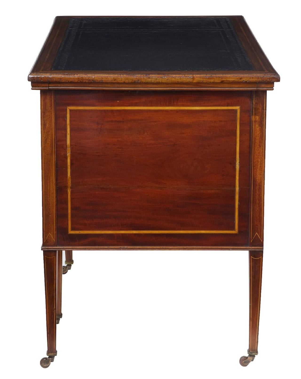 Wonderful image of Late Victorian Inlaid Mahogany Writing Desk at 1stdibs with #AE701D color and 1280x1609 pixels