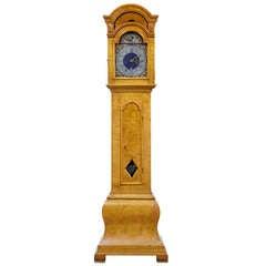 18th Century Birch Scandinavian Longcase Grandfather Clock