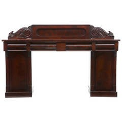 19th Century William IV Mahogany Pedestal Sideboard