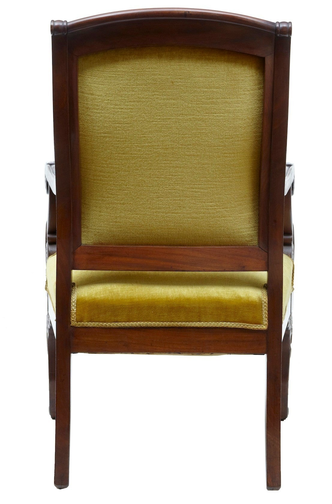 Regency 19th Century French Mahogany Armchair For Sale
