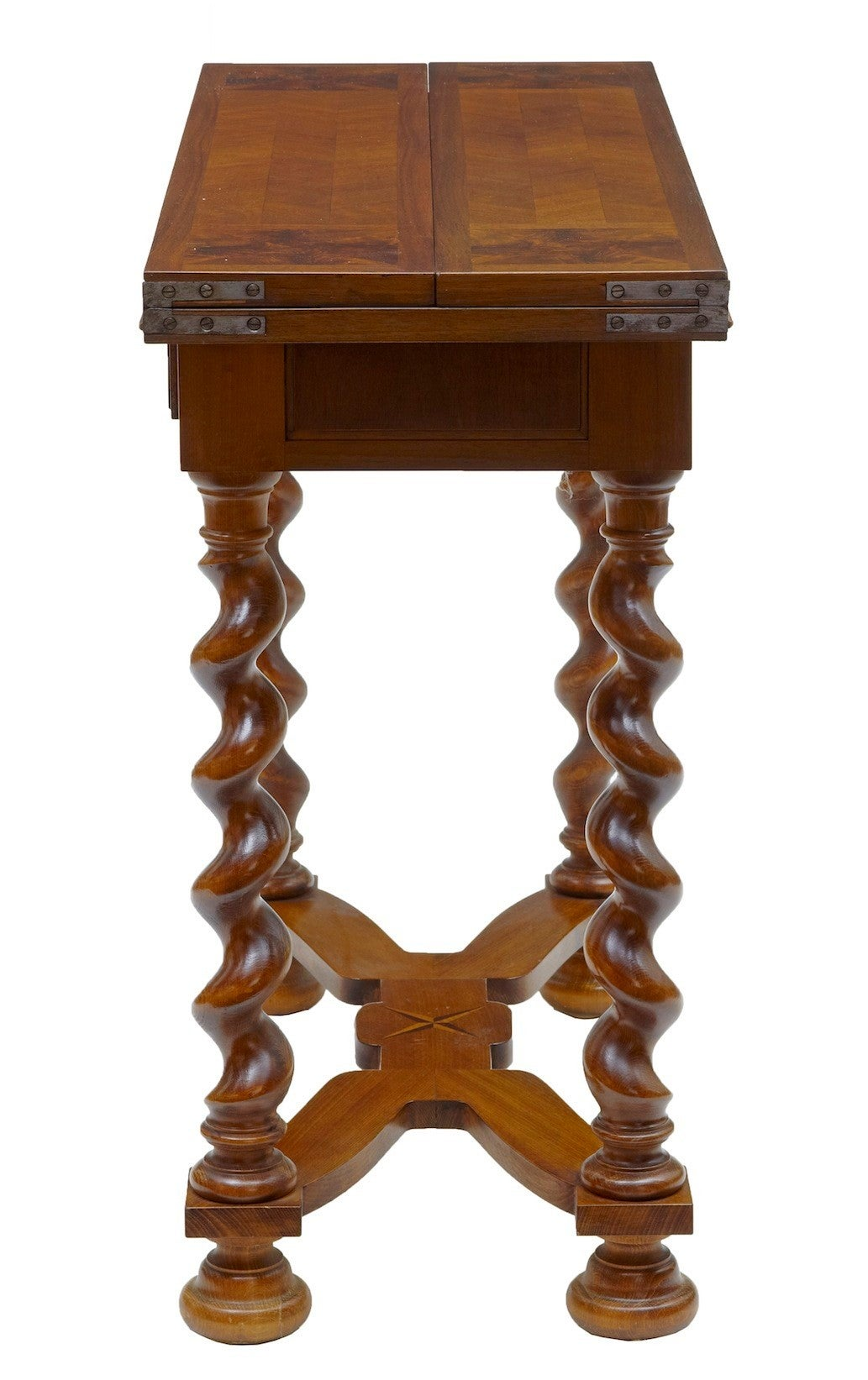 20th century walnut flip top occasional table for sale at for Table th rotate