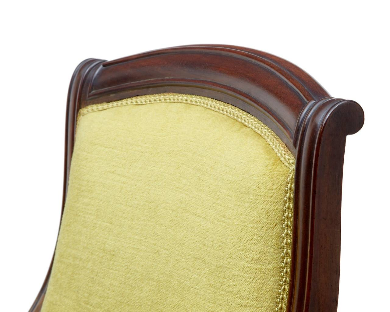 Woodwork 19th Century French Mahogany Armchair For Sale