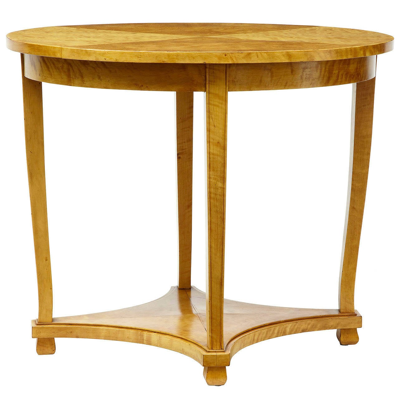 19th Century Swedish Birch Oval Occasional Table For Sale