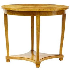 19th Century Swedish Birch Oval Occasional Table