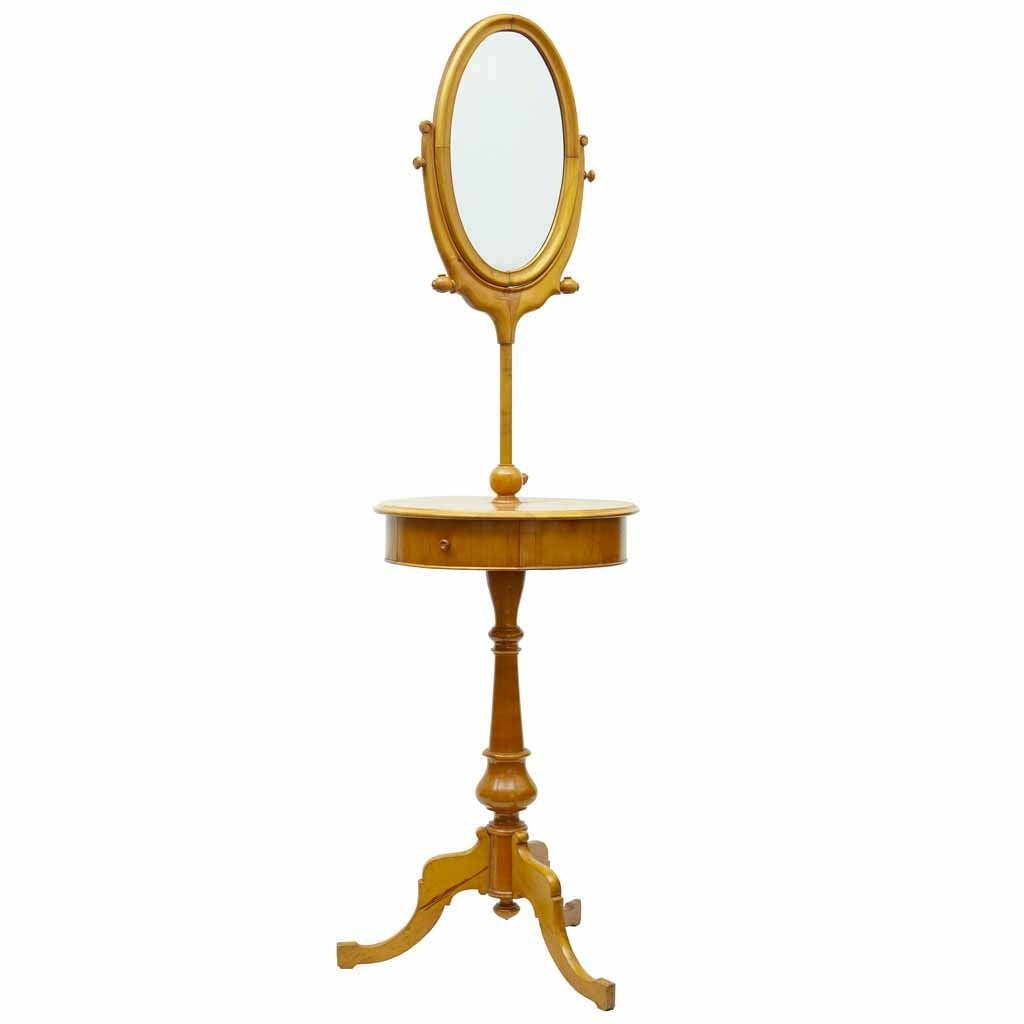 19th century birch gentleman 39 s shaving mirror stand for sale at 1stdibs. Black Bedroom Furniture Sets. Home Design Ideas