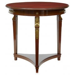 Late 19th Century Mahogany Empire Influenced Occasional Table