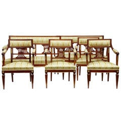 Six-Piece Early 20th Century Mahogany Salon Suite