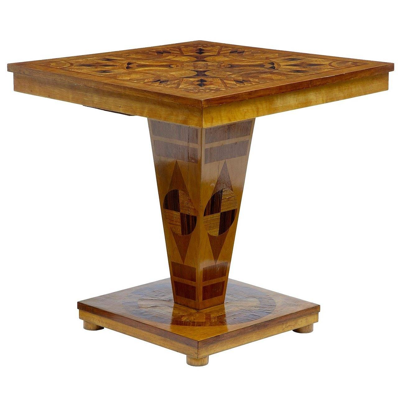 20th century deco inlaid occasional table for sale at 1stdibs