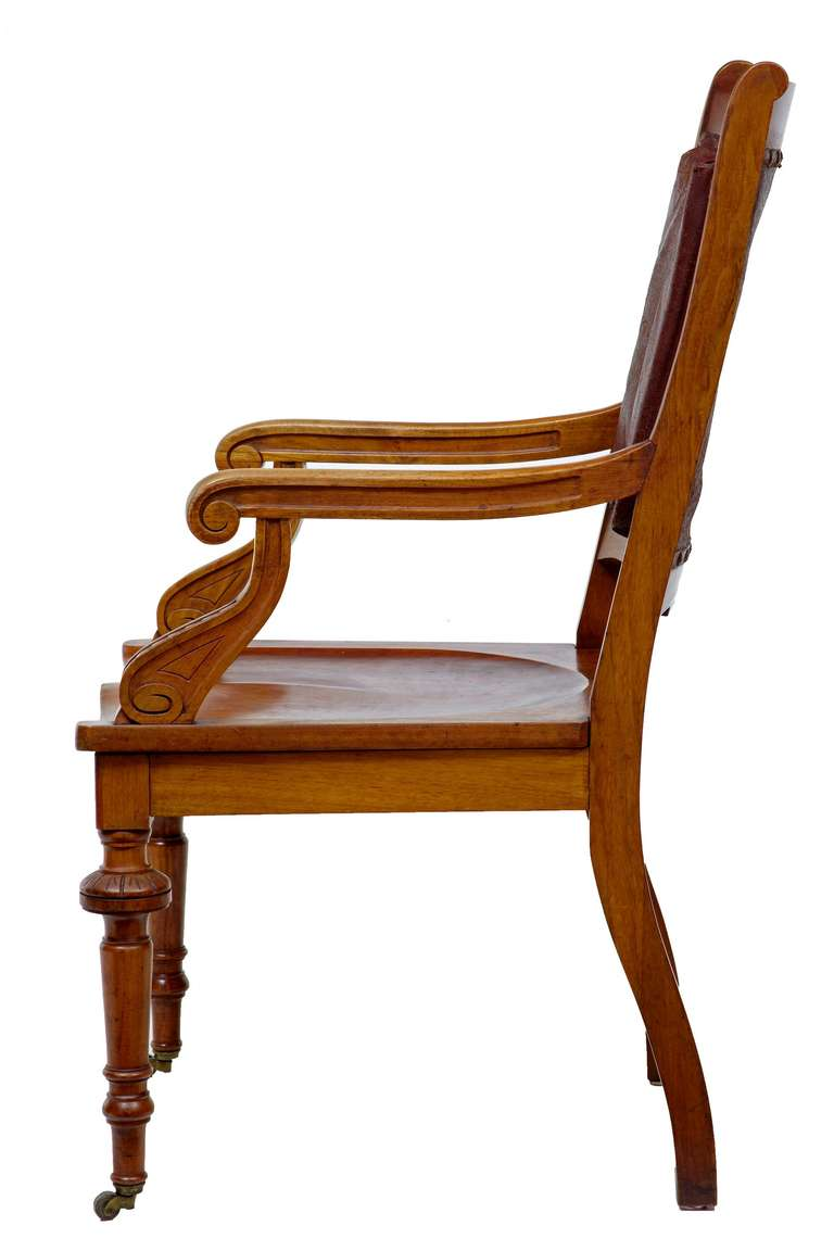 19th century arts and crafts mahogany desk chair for sale for Crafting desks for sale