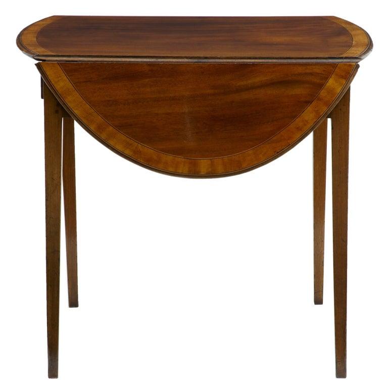 19th Century Late Regency Mahogany Pembroke Table