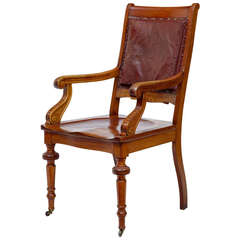 19th Century Arts & Crafts Mahogany Desk Chair