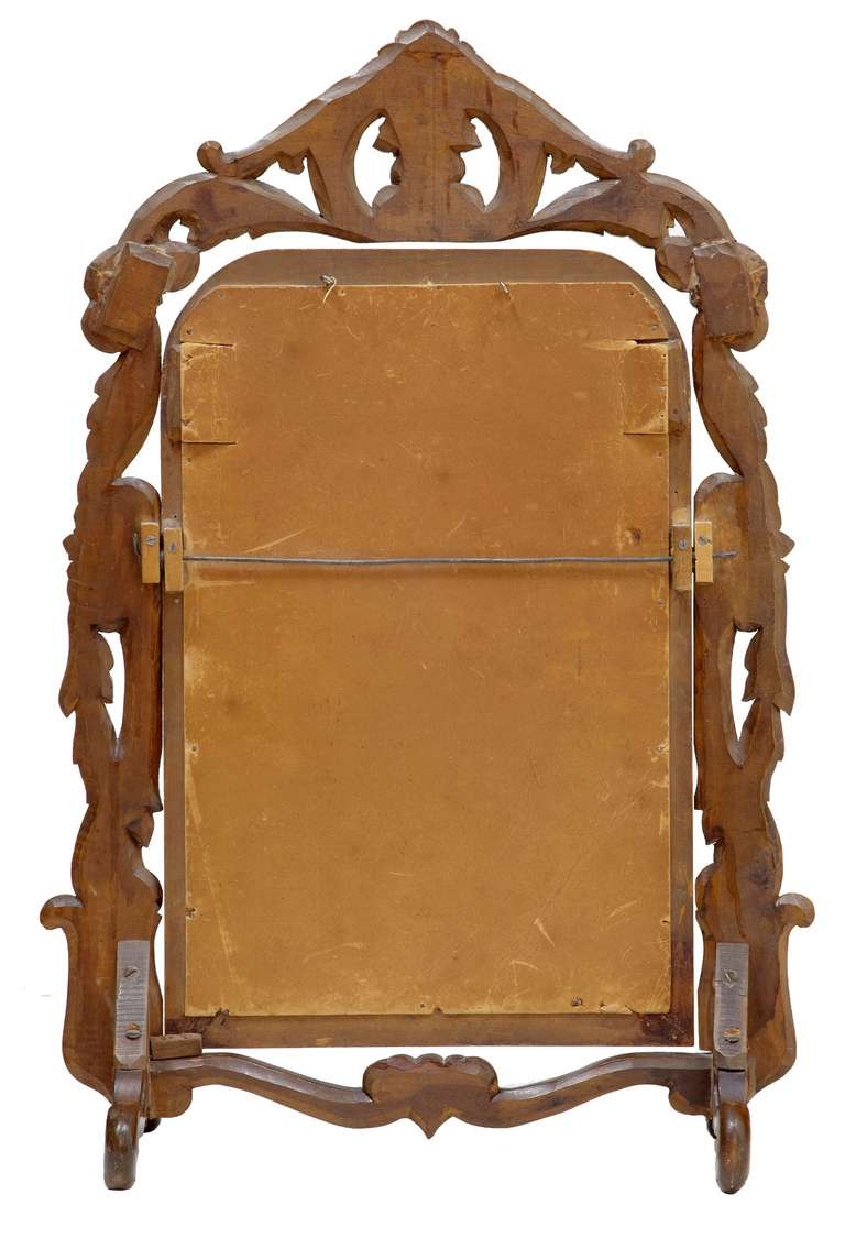 Late 19th Century Carved Oak Black Forest Vanity Mirror 3