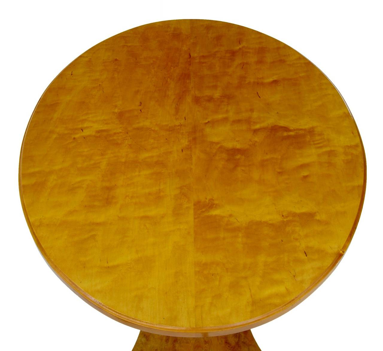 Biedermeier 19th Century, Swedish Birch Center or Occasional Table For Sale
