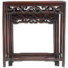 Late 19th Century Chinese Nest of Three Tables