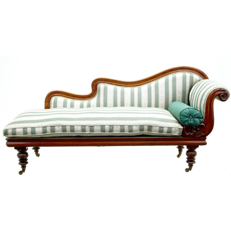 Mid victorian mahogany chaise lounge day bed at 1stdibs for Antique victorian chaise lounge