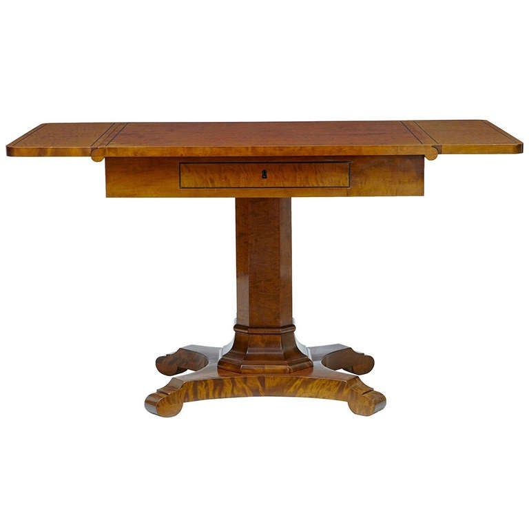 Late 19th century swedish birch sofa table at 1stdibs for Sofa central table