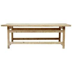 19th Century Multipurpose Rustic Swedish Pine Table