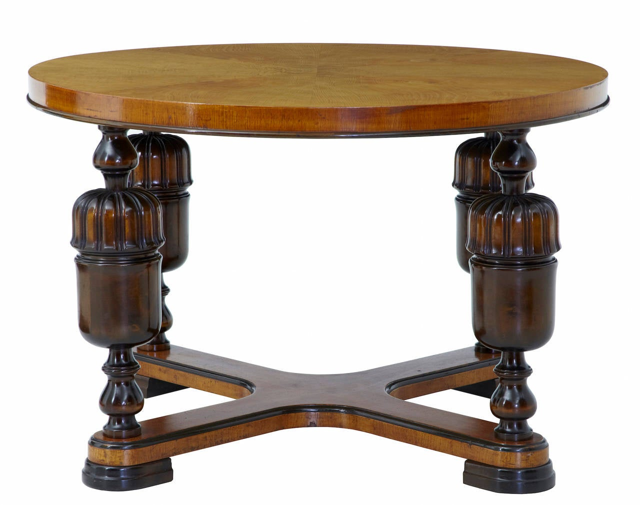 20th Century Art Deco Elm Birch Coffee Table For Sale At 1stdibs