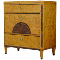 19th Century Inlaid Swedish Birch Chest of Drawers