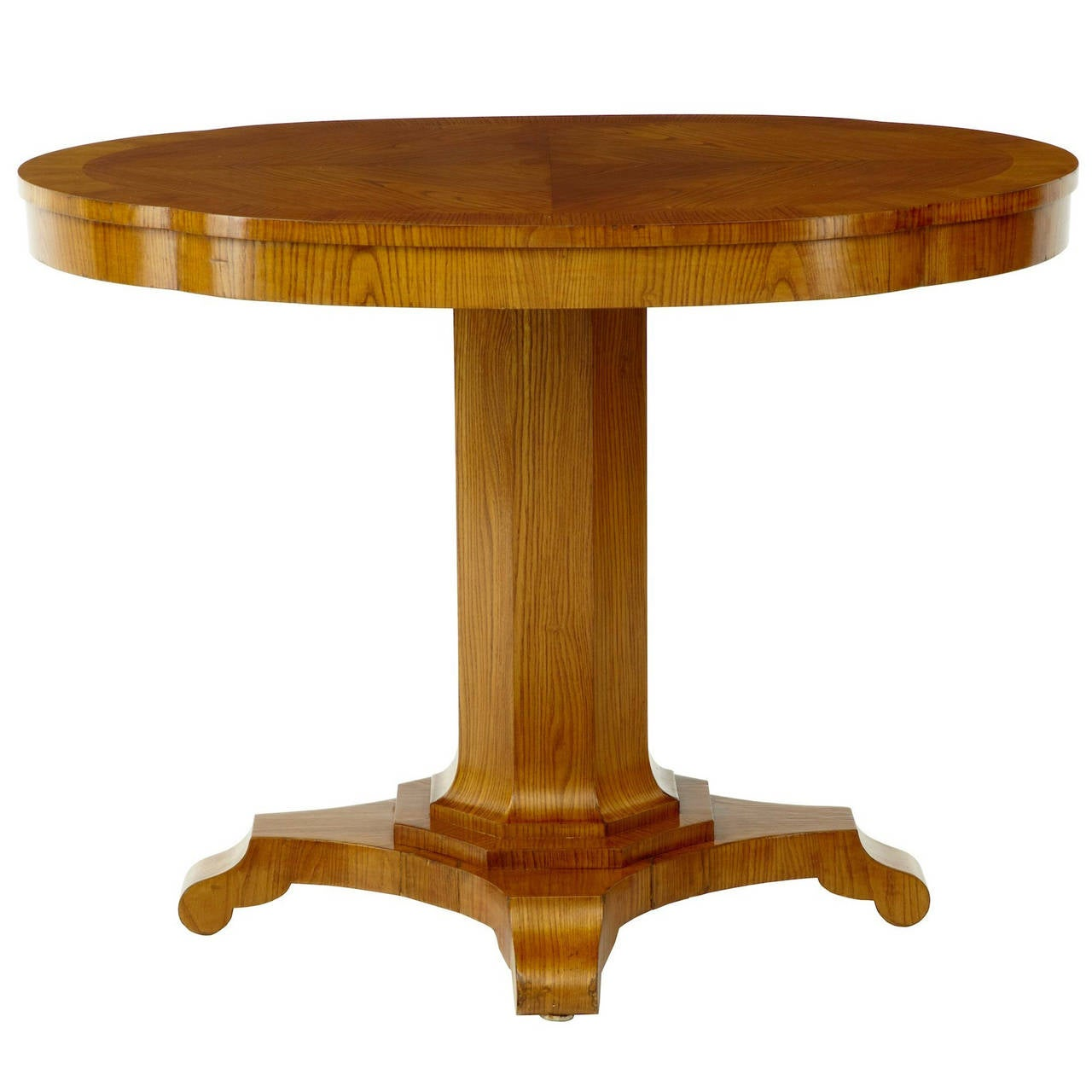19th Century Shaped Elm Centre Occasional Table For Sale