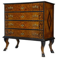 18th Century and Later Continental Marquetry Chest on Stand