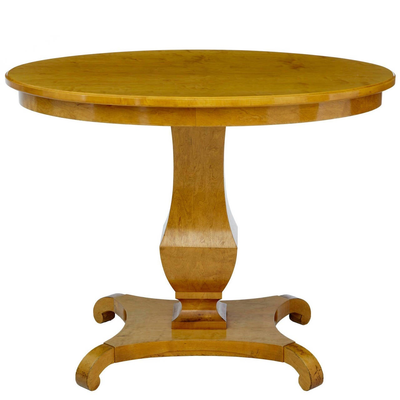 19th Century, Swedish Birch Center or Occasional Table For Sale