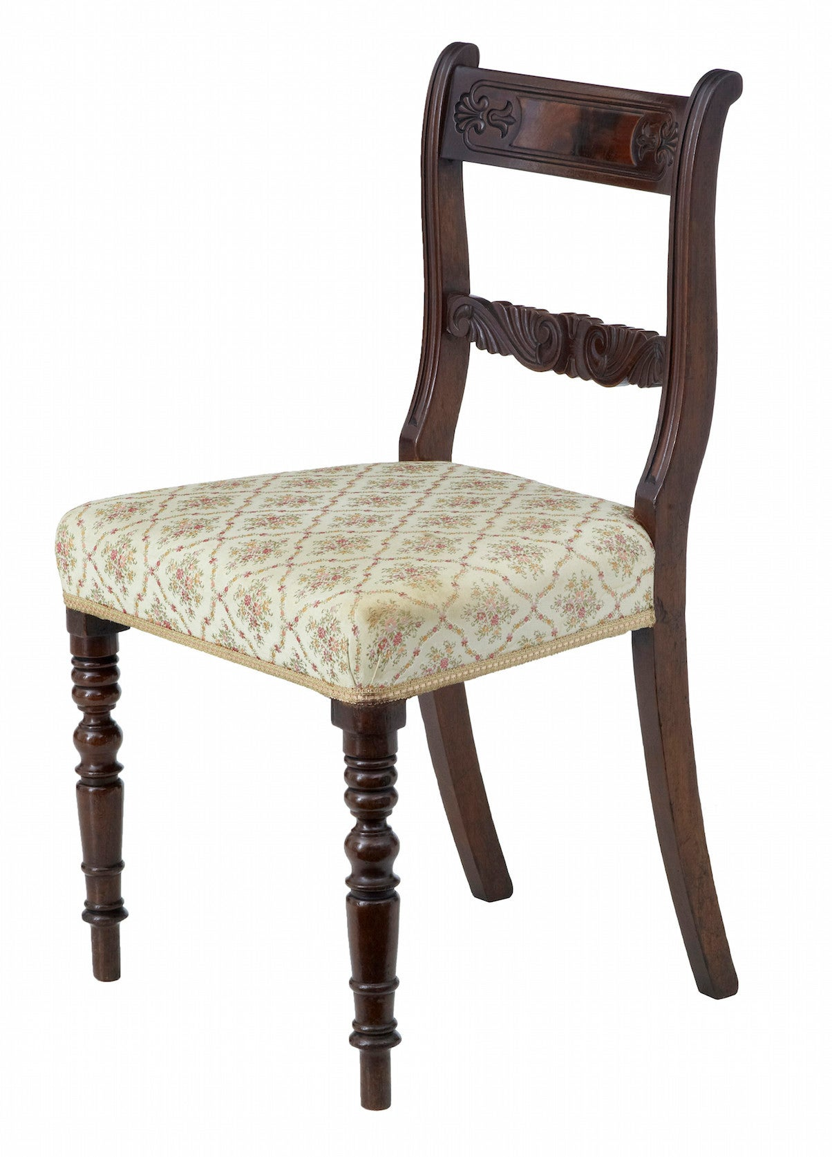 Set of 19th century regency mahogany dining chairs for for Mahogany dining room furniture
