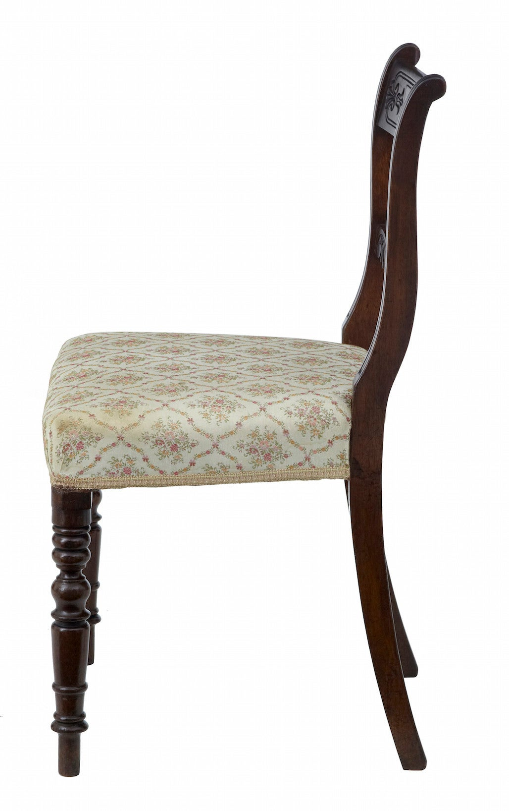 English Set of 19th Century Regency Mahogany Dining Chairs For Sale