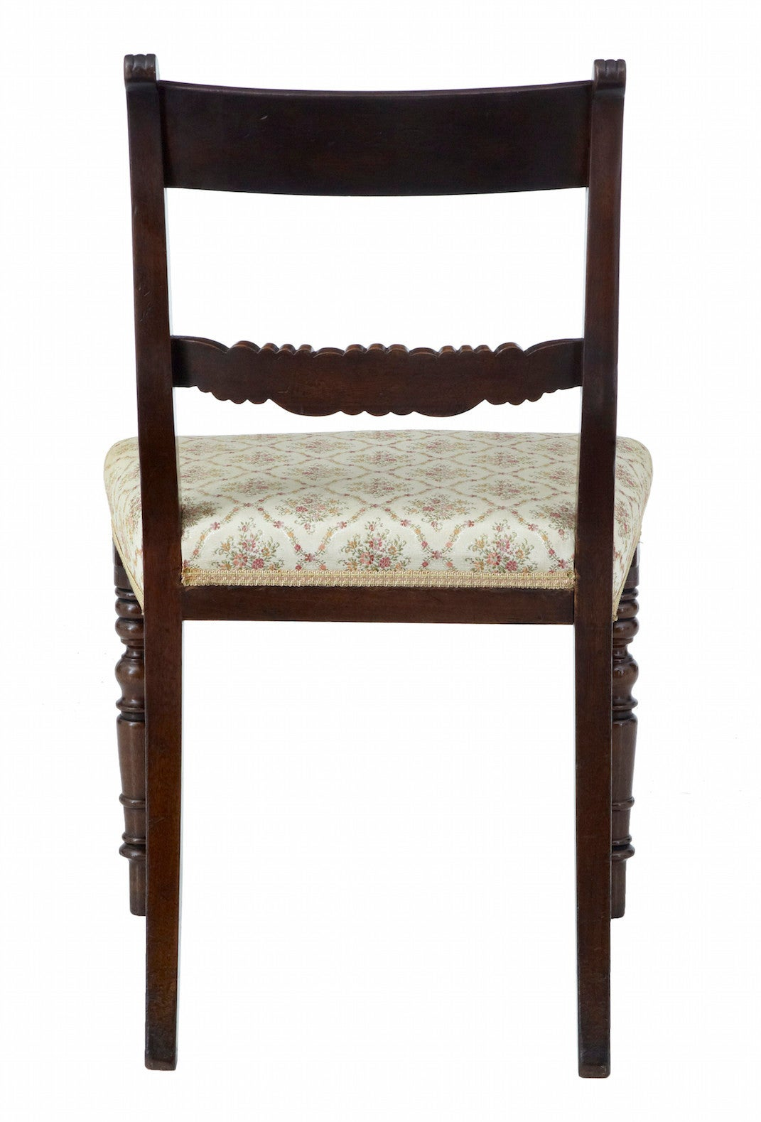 Woodwork Set of 19th Century Regency Mahogany Dining Chairs For Sale