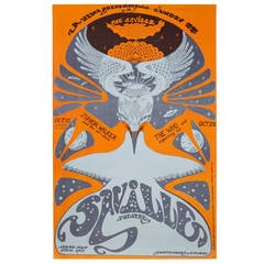 Rare Original Psychedelic Who Concert Poster at The Saville 1967