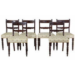 Set of 19th Century Regency Mahogany Dining Chairs