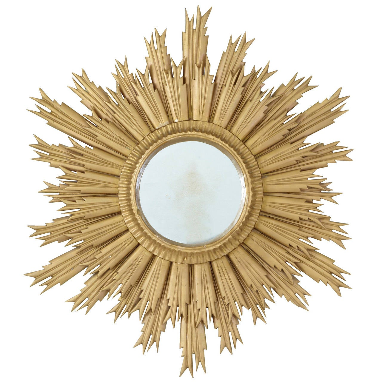 Late Art Deco Sunburst Mirror, circa 1950