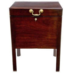 19th Century English Mahogany Wine Cooler or Box