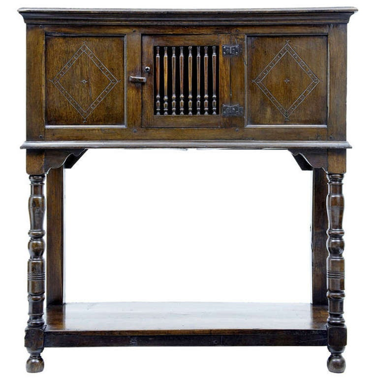 17th Century French Cuisine Of Late 17th Century English Oak Food Cupboard At 1stdibs