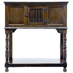 Late 17th Century English Oak Food Cupboard