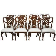 Set Of 6 +2 18th Century Mahogany Dining Chairs