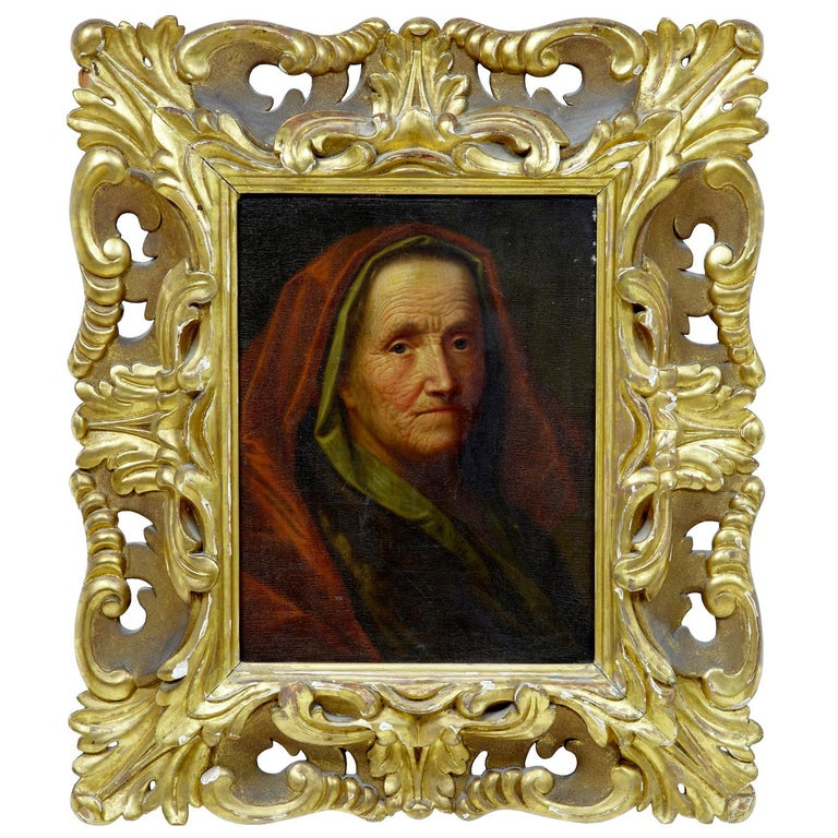 17th Century Oil on Board of Lady, Attributed to Balthasar Denner For Sale