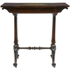 19th Century Regency Rosewood Writing Games Table