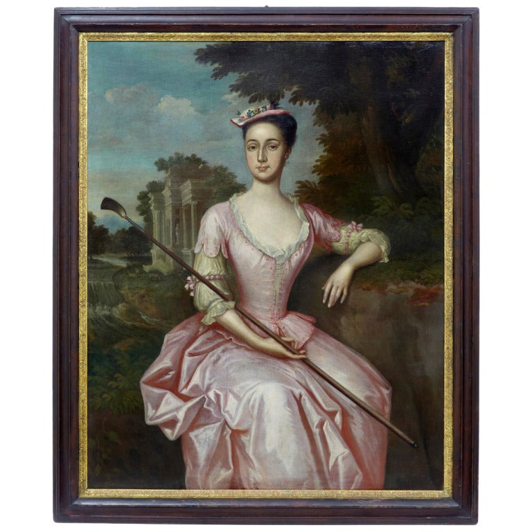 Wall Decoration John Lewis : Th century oil on canvas portrait of mrs yeats by john