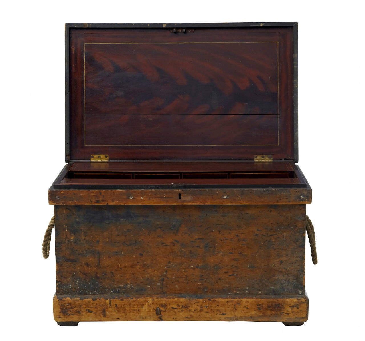 19th century cabinet makers pine tool chest with fitted for Cabinet makers