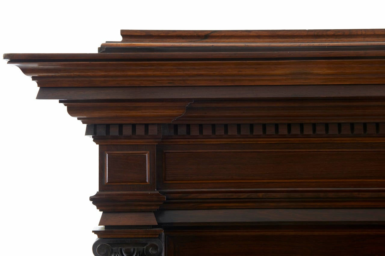 Late 19th Century 19th Century Italian Rosewood Baroque Style Cupboard For Sale